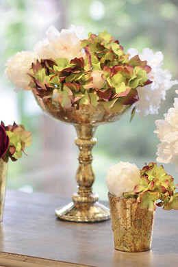 """Desiray Compote 8""""x 9.5"""" Gold"""