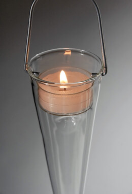 "6 Glass 10"" Cone Candle Holders"