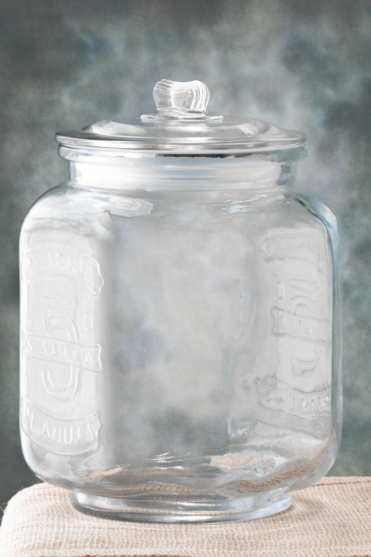 Glass cookie jar large in