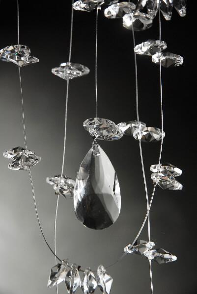 Glass Crystal Hanging Garland 5 feet