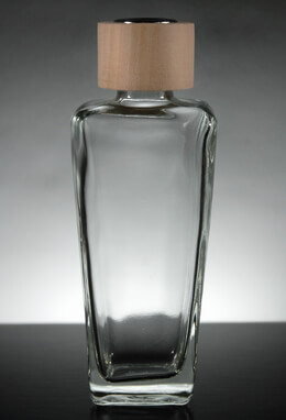 Glass Diffuser Bottle with Wood Top