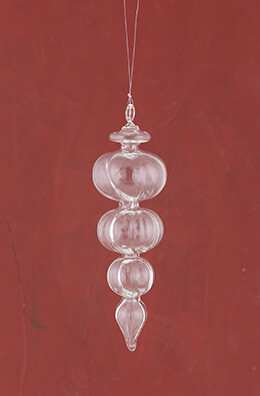 Glass Finial Ornament 8in