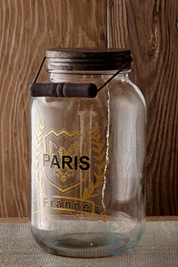 Glass Jar Paris 10.5in