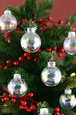 Glass Ornament Balls Iridescent 35mm (Pack of 20)