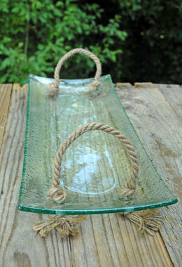 "Glass Tray Concave 6"" x 14"""