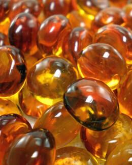"""Glass Vase Gems 1/2"""" Orange Lustre (1/4 lb./pkg)"""