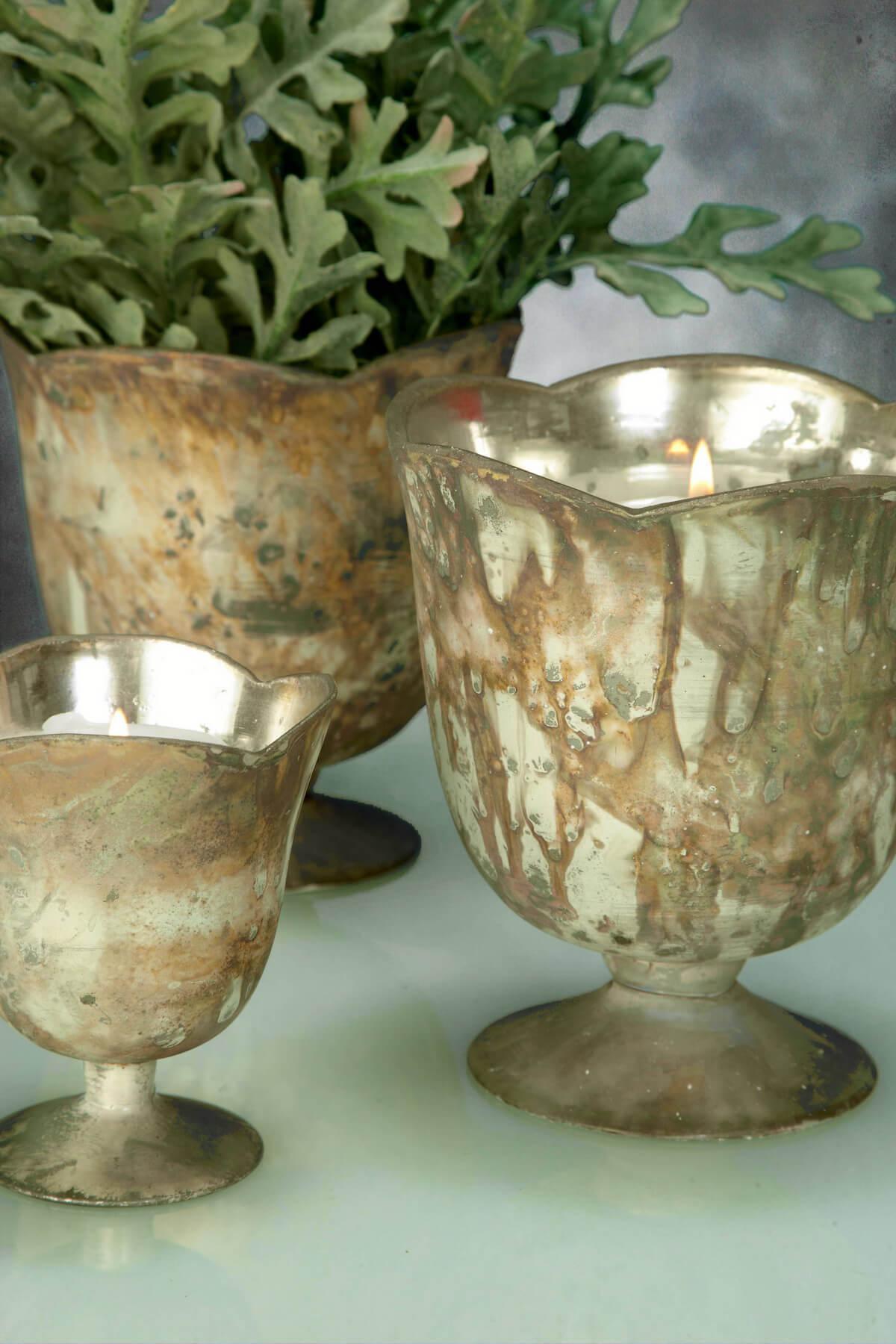 Glass Vase Marbled White 3.75in