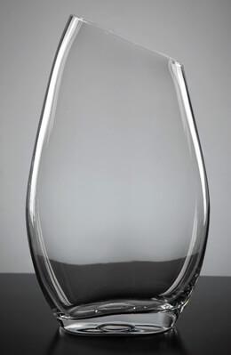 Slanted Rim Glass Vase 12 in.