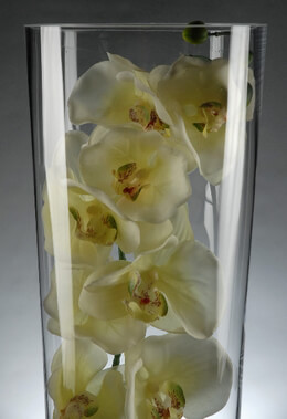 Clear Glass18 Inch Tall Cylinder Vases