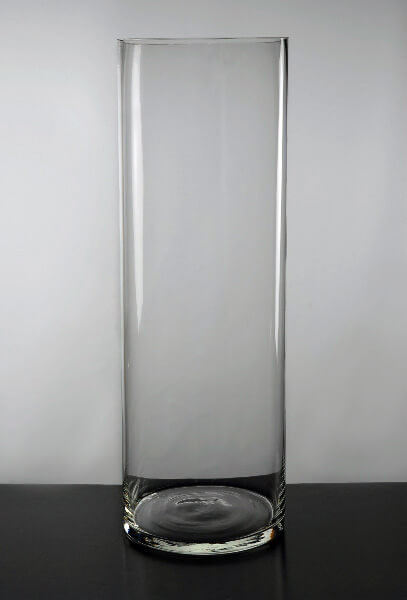 Clear Glass Cylinder Vase 23 in.