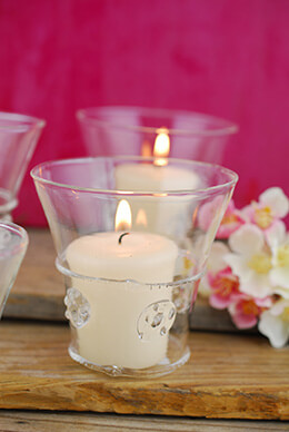 Glass Votive Holder 3in (Set of 4)