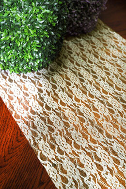 Glitter Lace Ivory 19in x 5yds