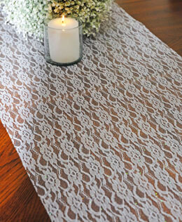 Glitter Lace White 19in x 5yds