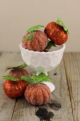 Glitter Pumpkins 2in (Pack of 6)