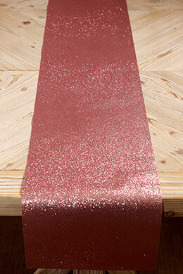 Glitter Ribbon Runner Pink 10in x 9ft