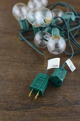 Globe String Lights Green Wire 9ft - 10ct