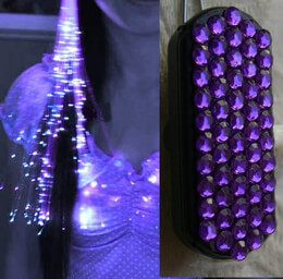 Glowbys Fiber Optic Hair Extension Lights PURPLE GEM