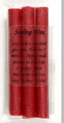 Glue Gun Sealing Wax Metallic Red
