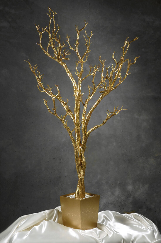 Potted Gold Wishing Tree 4ft
