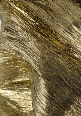 "Gold Metallic Crinkled Crepe Fabric Semi Sheer 22"" width 3 yards"