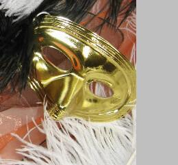 Gold Metallic Eye Masks- (6 masks)