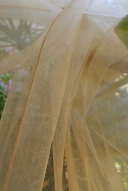 "Gold Organza Fabric Sheet  54"" wide x 9 feet"