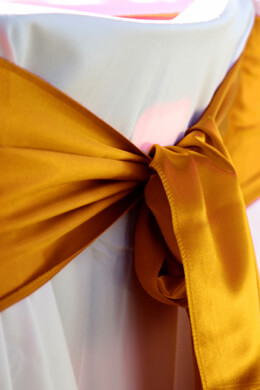 Satin Chair Sashes Gold (Pack of 10)