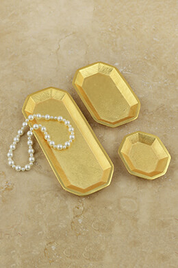 Gold Trays (Set of 3)