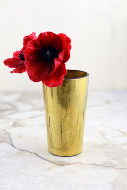 Vivi Gold Vase & Votive Holder  5in
