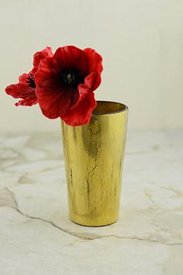 Gold Vase 2.75x4.75in