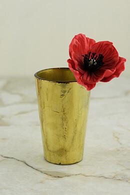 Gold Vase 2.5x4in