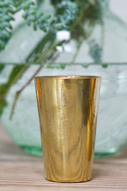 Vivi Gold Votive & Vase 2.5x4in