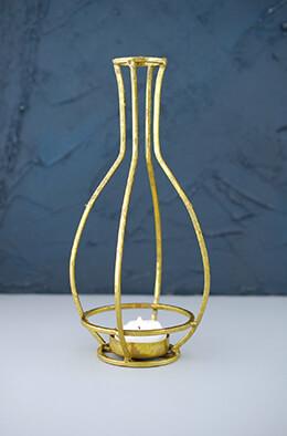 Gold Vase Tealight Holder Small