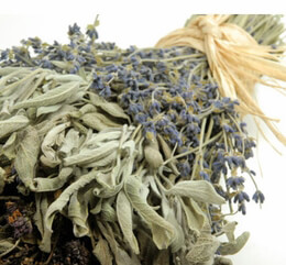 Kitchen Herb Braid Dried lavender, sage, & oregano