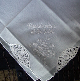 "Wedding Handkerchief ""Grandmother of the Bride"""