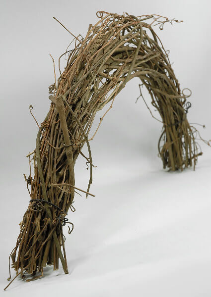 "Grapevine Arches 24"" Natural Grapevine Swag Form"