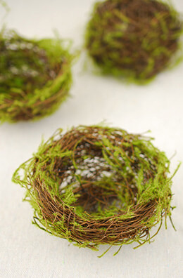 Grapevine Bird Nest with Moss 4in (Pack of 24)