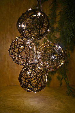 Battery Operated Grapevine Globe String Lights 6ft