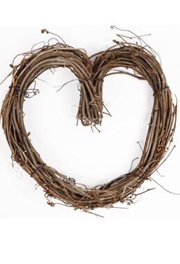 Grapevine Heats 10 Inch Heart Wreath