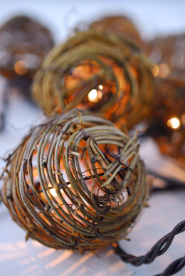 Grapevine String Lights 8ft - 10ct, End to End