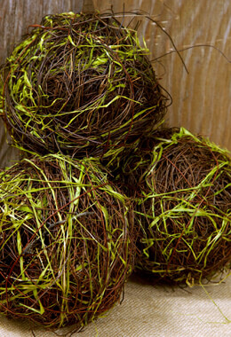 Angel Vine and Grass Balls 6in