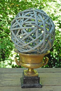 Mini Grecian Urn Gold 7in