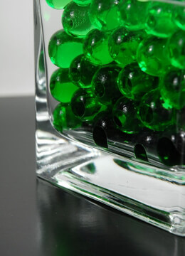 Green Jumbo Water Pearls (water holding vase gems)