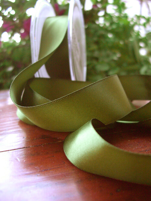 Double Faced Satin Ribbon Pine 1in