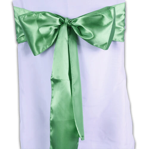 Green Satin Chair Sashes (Pack of 10)