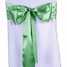 Satin Chair Sashes Green (Pack of 10)