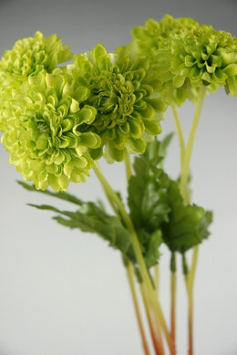 Artificial Mums Green (Pack of 6)