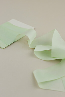 Custom Dyed 100% Silk Ribbon Light Green 1.5in x 3yds