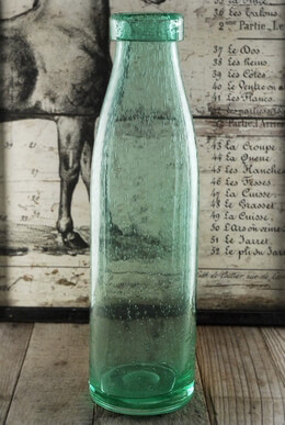 Vintage Milk Bottle Green