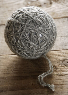 Grey Yarn Ball Ornament 3in